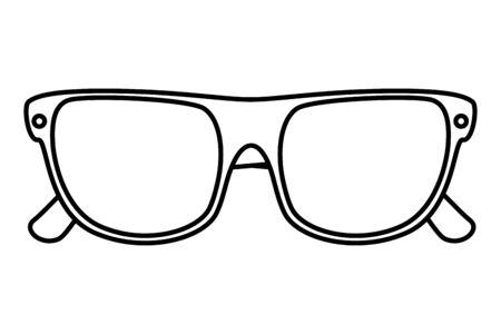 summer sunglasses accessory isolated icon vector illustration design Stock Illustratie