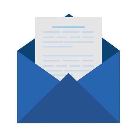 envelope mail social media icon vector illustration design