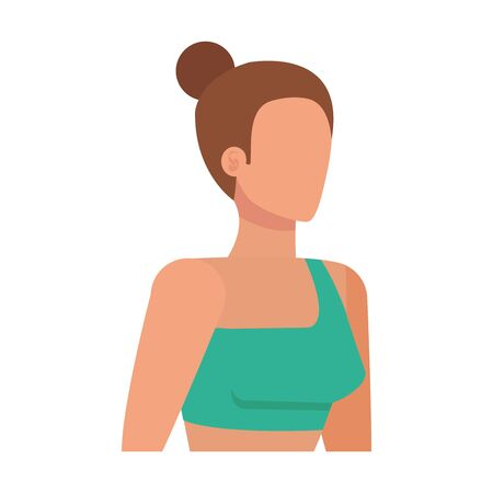 young sport woman avatar character vector illustration design Ilustração