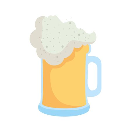 beer jar isolated icon vector illustration design Illustration