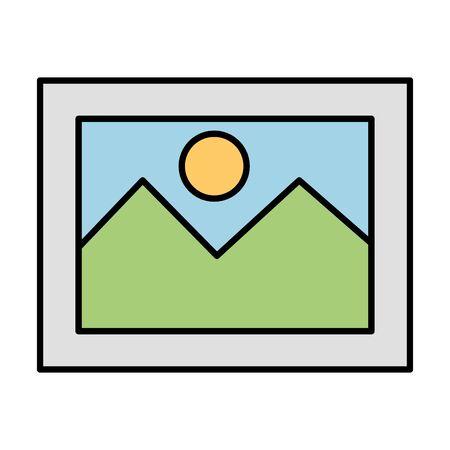 picture file photo format icon vector illustration design Illustration