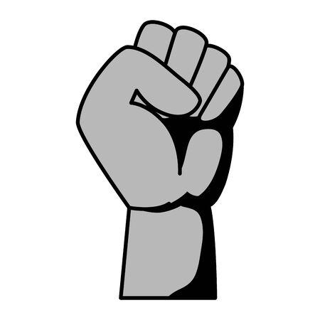hand human fist power fighter vector illustration design Illustration