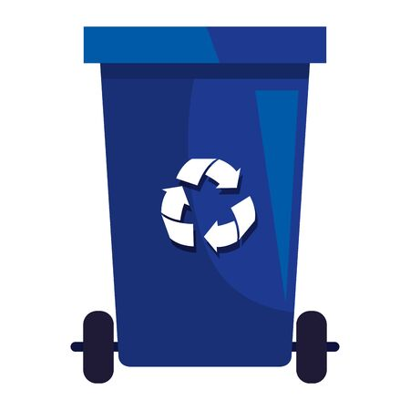 recycle waste with recycle arrows vector illustration design