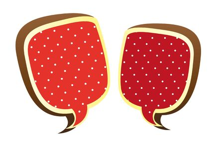 red thought bubbles isolated over black background. vector