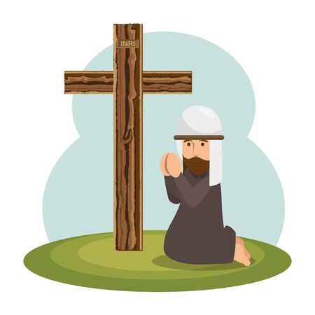 jesus christ religious character vector illustration design