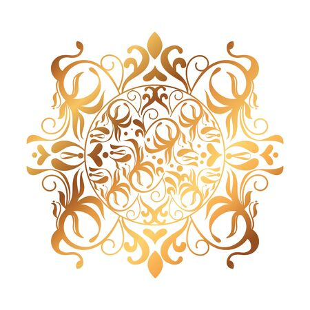 frame golden victorian style vector illustration design