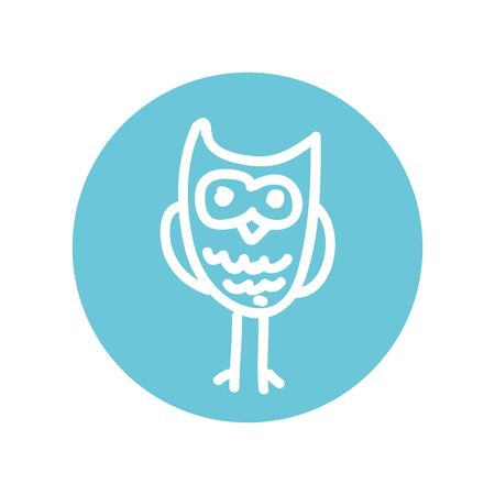 cute owl drawing isolated icon vector illustration design