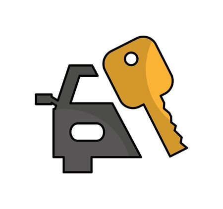 key car isolated icon vector illustration design Stock Vector - 127741235