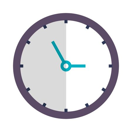time clock watch isolated icon vector illustration design Banque d'images - 130580957