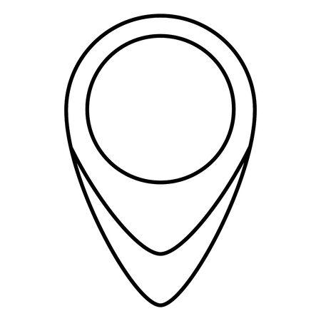 Emplacement du pointeur de broche icône isolé vector illustration design Vecteurs