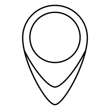 pin pointer location isolated icon vector illustration design  イラスト・ベクター素材