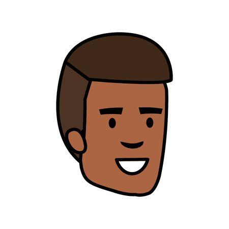 young man head avatar character vector illustration design Ilustrace