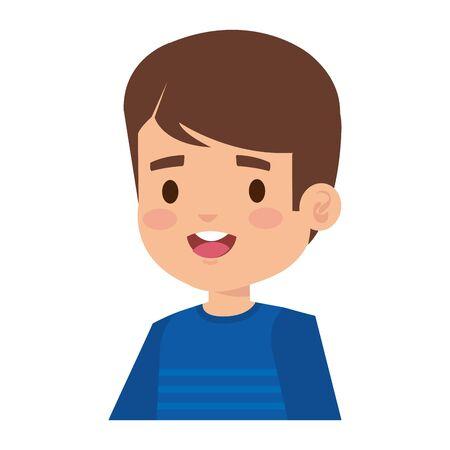 happy little boy comic character vector illustration design
