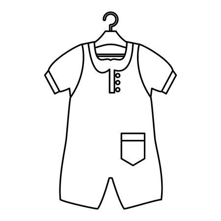 baby clothes fashion isolated icon vector illustration design