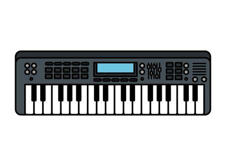 piano keyboard isolated icon vector illustration design Vettoriali