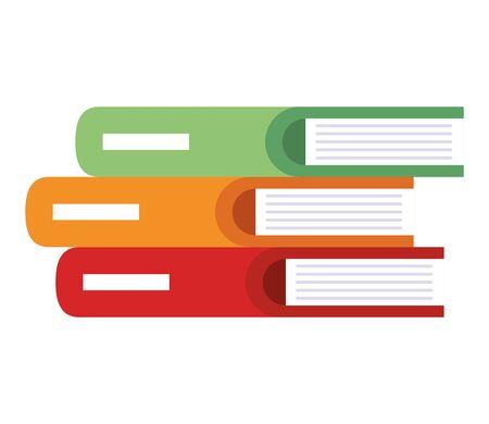 pile text books icons vector illustration design Illustration