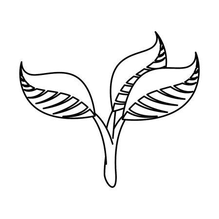 ecology leafs plants icon vector illustration design Ilustração