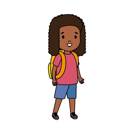 black little student girl vector illustration design Illusztráció