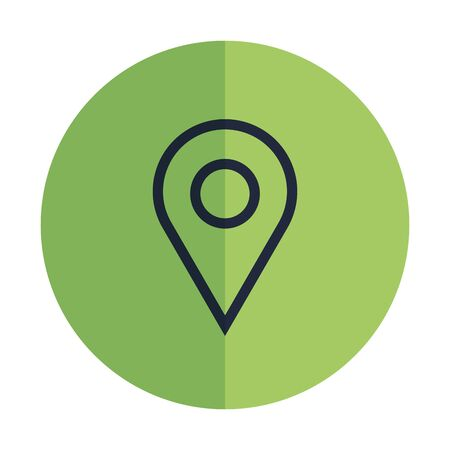 pin pointer location isolated icon vector illustration design Vettoriali