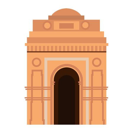 indian gate arch monument icon vector illustration design