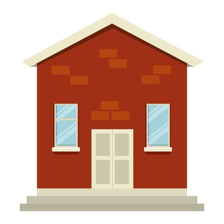 house building facade isolated icon vector illustration design Illustration