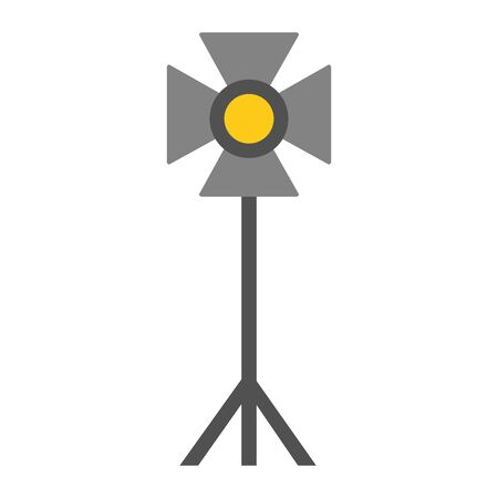 standing strobe tripod electrical spotlights professional vector illustration Stock Illustratie