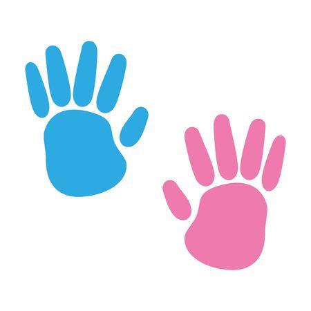 Hände drucken Farben malen Symbol Vektor Illustration Design Vektorgrafik