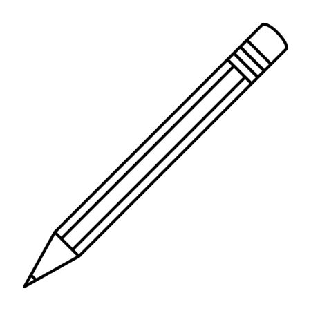 pencil school supply isolated icon vector illustration design 向量圖像