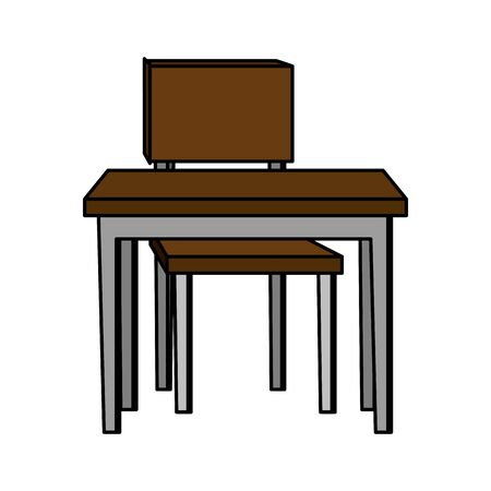 schooldesk with chair education icon vector illustration design Banque d'images - 127814039
