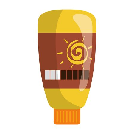 solar blocker bottle product icon vector illustration design