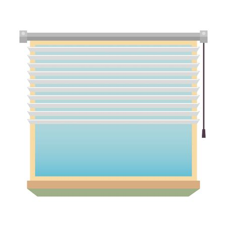 window with blind indoor scene vector illustration design Illusztráció