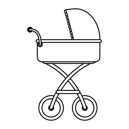 baby cart transport isolated icon vector illustration design Stock Illustratie