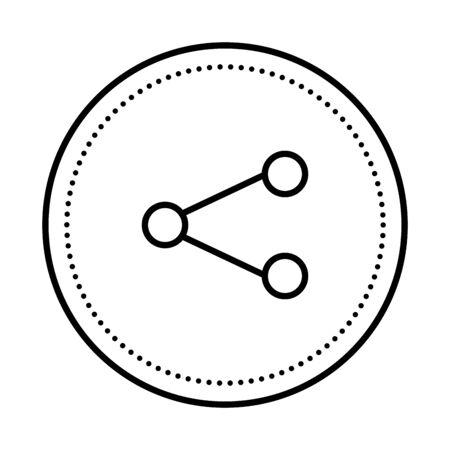 share symbol social media icon vector illustration design Ilustrace