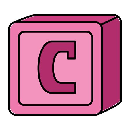 alphabet block toy baby with letter c vector illustration design Banque d'images - 127868503
