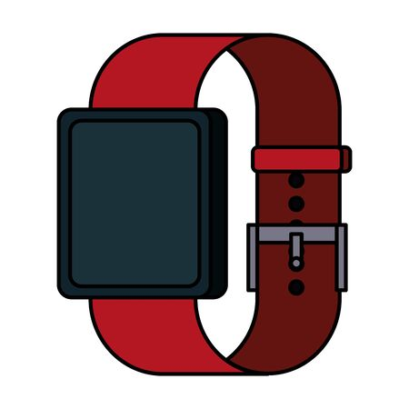 smartwatch weareable technology device vector illustration design 일러스트