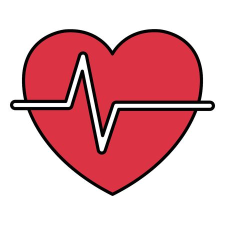 heart cardio medical isolated icon vector illustration design