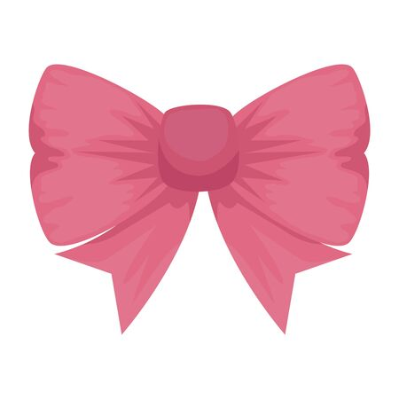 bowtie ribbon decorative isolated icon vector illustration design Illustration