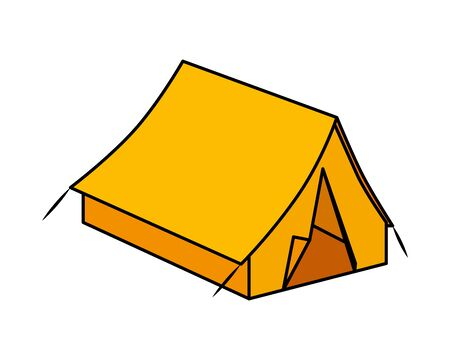 tent camping accessory isolated icon vector illustration design 版權商用圖片 - 127872369