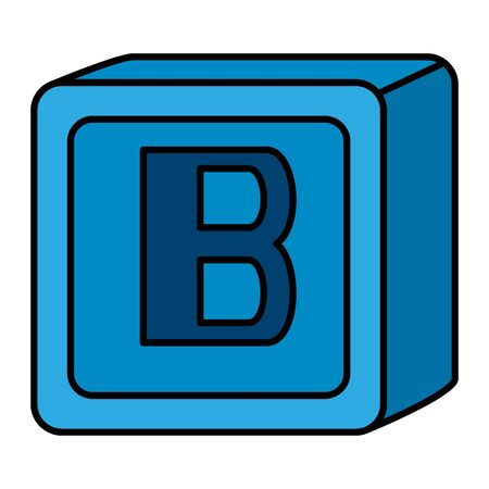 alphabet block toy baby with letter b vector illustration design Banque d'images - 127877017