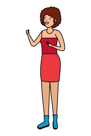 schöne Zirkusfrau Charakter Vektor Illustration Design