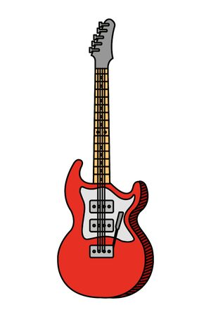 elektrische gitaar instrument muzikaal pictogram vector illustratie ontwerp