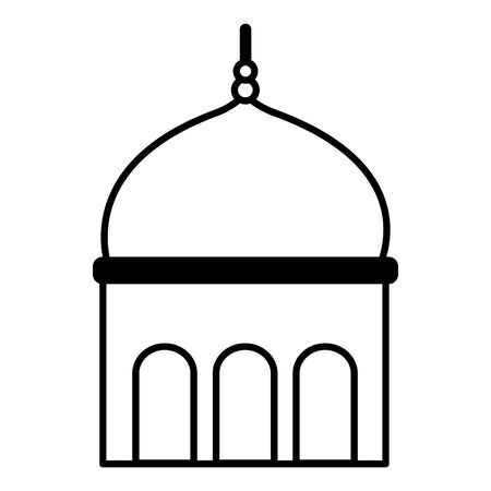 temple dome architecture culture on white background vector illustration 일러스트