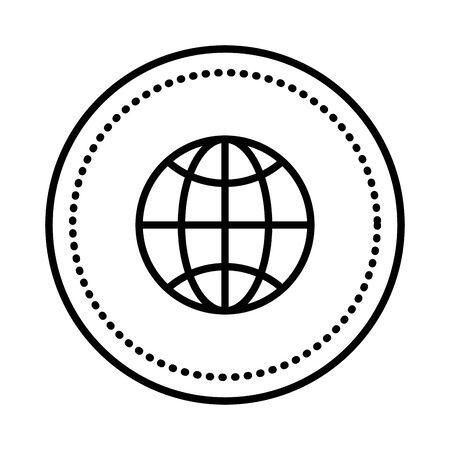 sphere planet browser icon vector illustration design Banque d'images - 127914170