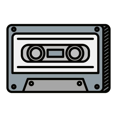 audio cassette record musical icon vector illustration design