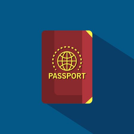 Pasaporte documento de viaje para viajes de turismo a la ilustración de vector de horario de verano