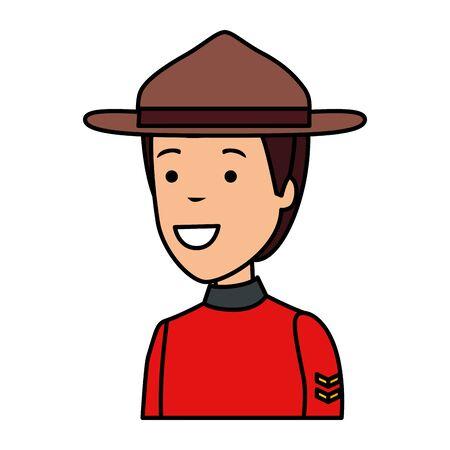 officer ranger avatar character vector illustration design