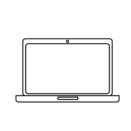 laptop computer portable device icon vector illustration design