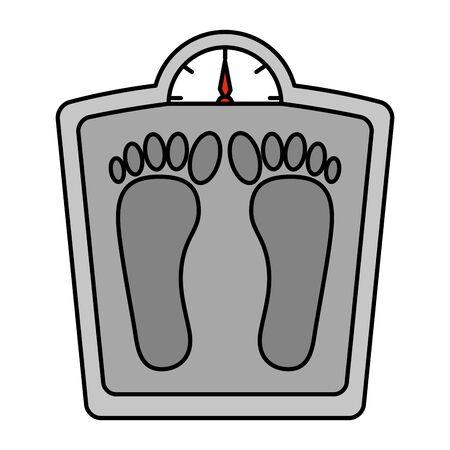 measure weight balance icon vector illustration design Illustration