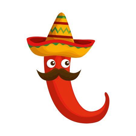 chili pepper vegetable icon vector illustration design