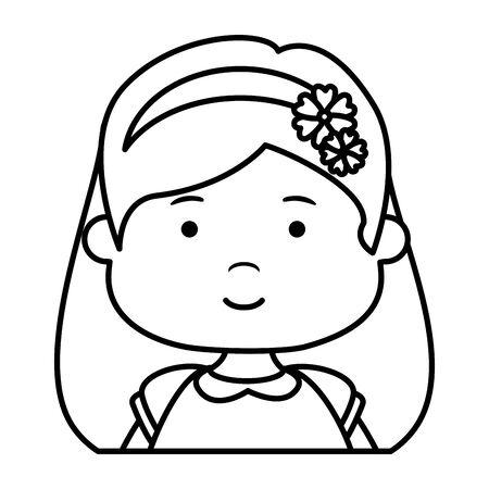 little girl first communion character vector illustration design Векторная Иллюстрация